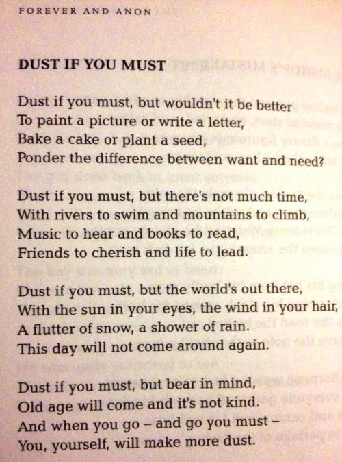dust-if-you-must